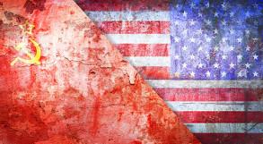 Bandeiras do Estados Unidos e União Soviética