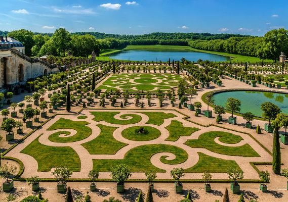 Laranjal no Palácio de Versalhes