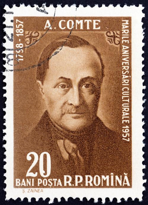 Auguste Comte foi o primeiro teórico a expor a necessidade de uma ciência dedicada a descobrir as leis da sociedade.