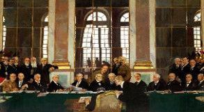 Assinatura do Tratado de Versalhes na sala dos espelhos
