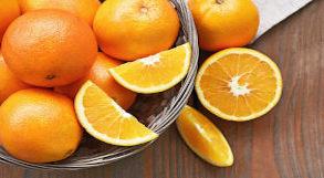 Cesta com laranjas