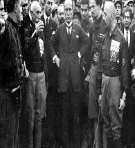 Mussolini na Marcha para Roma