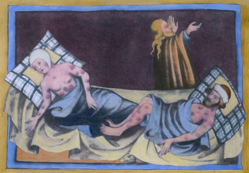 O surto de peste bubônica, conhecida como Peste Negra, resultou na morte de 1/3 da população europeia no século XIV.