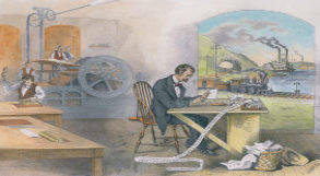 Pintura representando o contexto da Europa no século  XIX