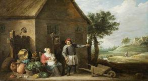 Pintura representando camponeses