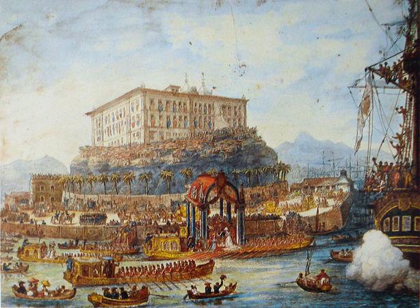Leopoldina foi recebida no Rio de Janeiro no final de 1817. [1]