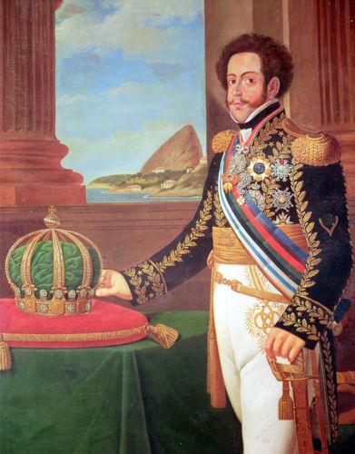 Durante o processo de independência, d. Pedro assumiu um papel de liderança e tornou-se d. Pedro I ao ser coroado imperador do Brasil, em 1822. [1]