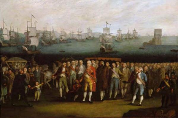 O embarque da família real para o Brasil aconteceu, às pressas, entre os dias 25 e 27 de novembro de 1807.