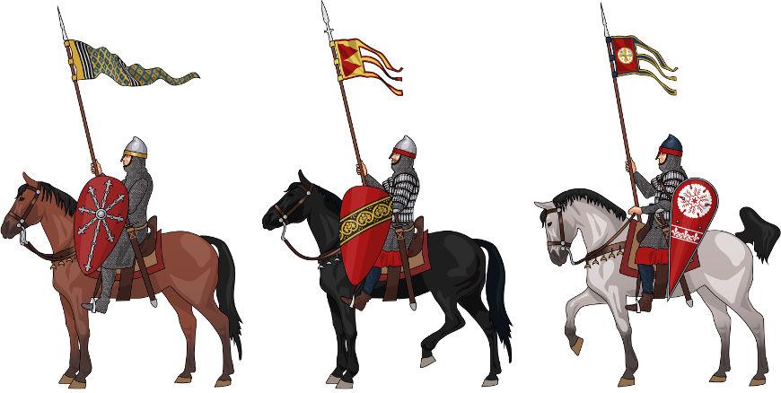 Os nobres cumpriam funções como guerreiros na Idade Média. Pertenciam a uma classe com  diversos privilégios.