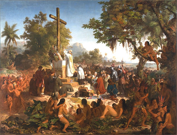 O frei Henrique de Coimbra realizou, em 26 de abril de 1500, a primeira missa na história do Brasil.[1]