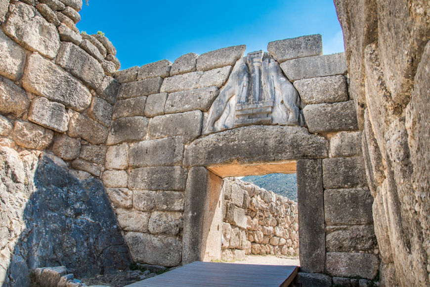 Ruínas de uma construção feita pelos micênicos, povo indo-europeu que desapareceu por volta de 1200 a.C.