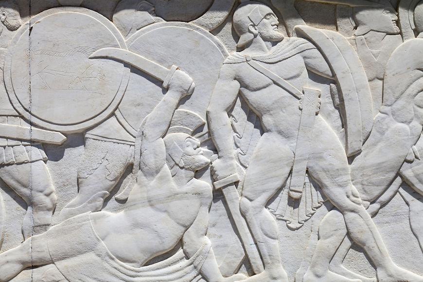Registro da Batalha das Termópilas, uma das batalhas mais famosas das Guerras Médicas.