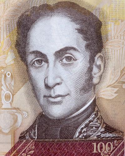"""Simón Bolívar ficou conhecido como """"libertador"""", por participar da independência de cinco países sul-americanos."""