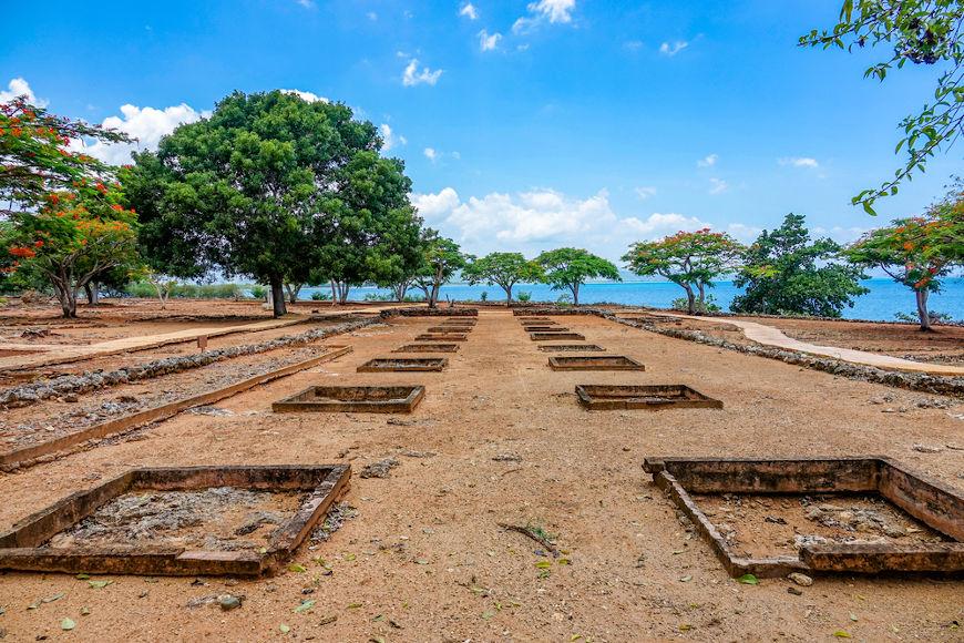 Ruínas de La Isabela, o segundo assentamento espanhol fundado por Cristóvão Colombo na América.