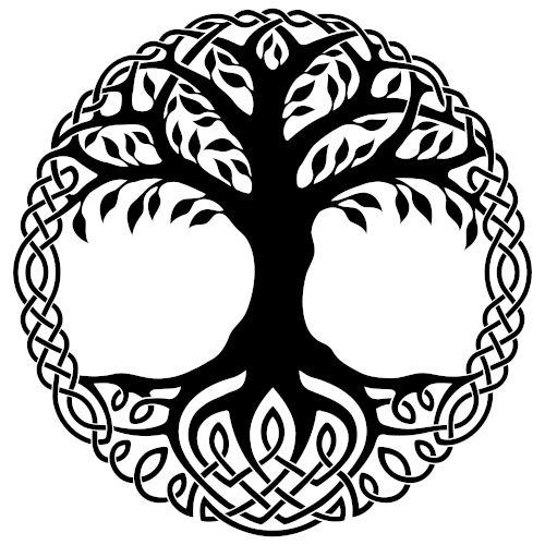 Árvore da vida celta, também conhecida como Crann Bethadh. Representava o equilíbrio e a harmonia das forças da natureza.