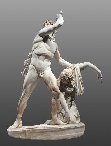 Escultura romana que demonstra um gaulês cometendo suicídio.