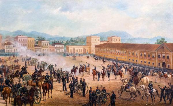 Proclamação da república aconteceu em 15 de novembro de 1889 e foi consequência da crise da monarquia.[1]