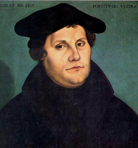 Lutero deu início à Reforma Protestante quando afixou na porta da Igreja de Wittenberg as suas 95 teses.