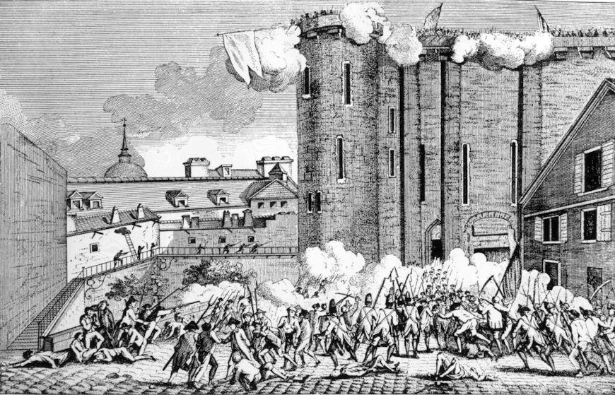 A queda da Bastilha é o acontecimento usado como marco para o início da Idade Contemporânea.