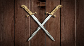 desenho representando duas espadas cruzadas