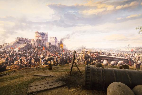 A conquista de Constantinopla pelos otomanos, em 1453, foi o marco que inaugurou a Idade Moderna.[1]