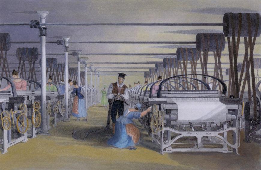 No final da Idade Moderna, o surgimento da indústria permitiu o estabelecimento do capitalismo.