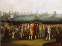 pintura representando o embarque da família real