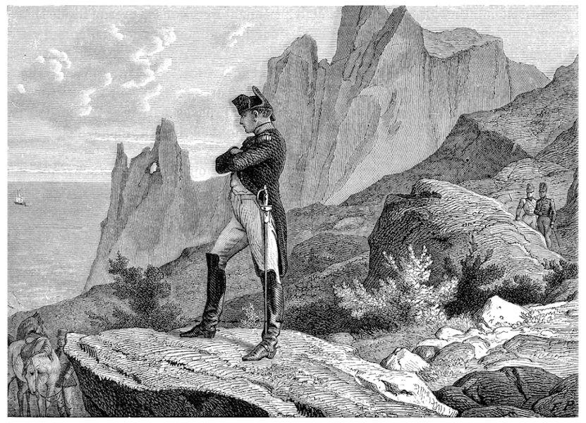 A ilha de Santa Helena foi o último exílio de Napoleão e o local onde ele faleceu em 1821.