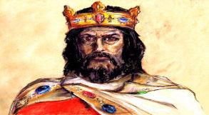 desenho representando Carlos Magno