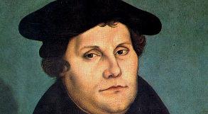 desenho representando Martinho Lutero