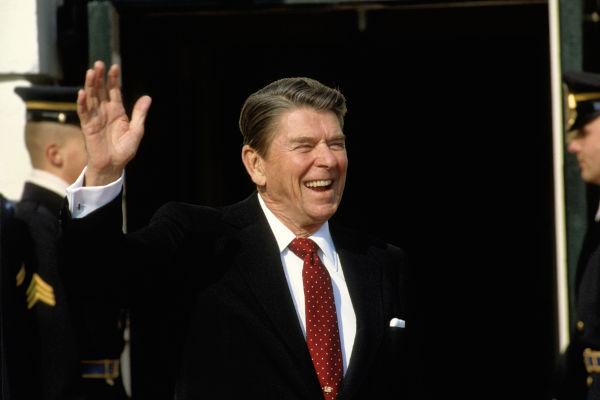 Ronald Reagan ficou marcado como ator de Hollywood e foi o 40º presidente da história dos Estados Unidos.[1]
