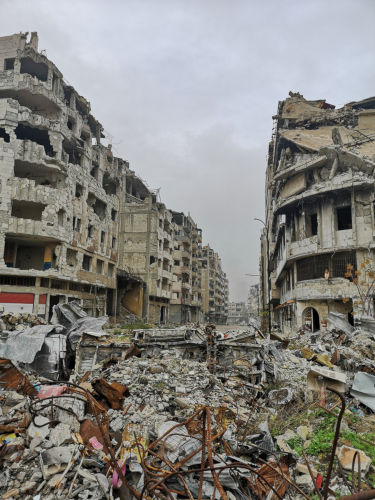 Aleppo, a cidade que mais sofreu impactos com a Guerra Civil Síria.