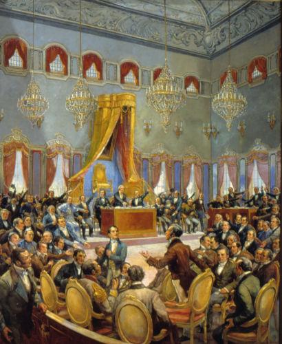 As Cortes portuguesas foram responsáveis por elaborar a Constituição de Portugal e pelas exigências feitas ao rei d. João VI.[2]