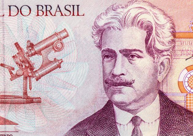 Cédula com Oswaldo Cruz