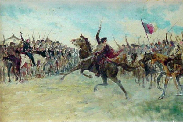 Em setembro de 1836, os farroupilhas proclamaram a República Rio-Grandense.[1]