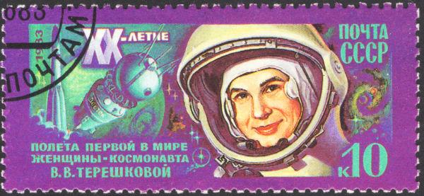 Valentina Tereshkova ficou marcada como a primeira mulher a ir ao espaço.[1]