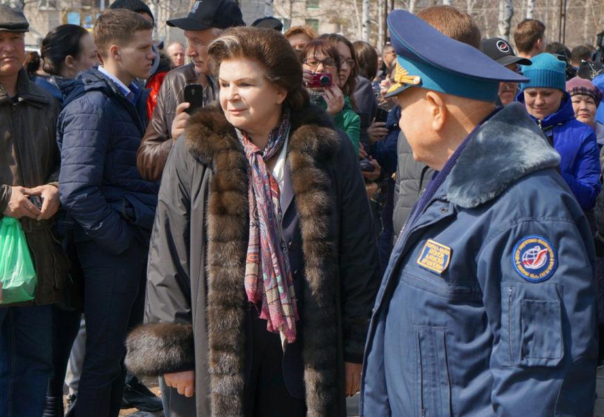 Valentina Tereshkova em imagem de 2016, quando já era política.