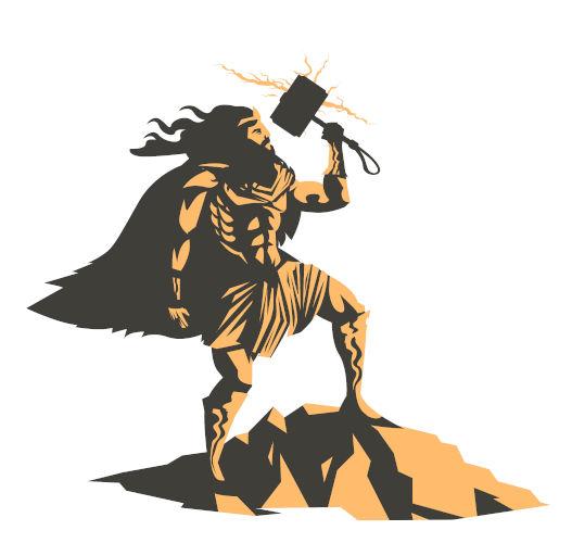 Thor era um deus popular entre os nórdicos e conhecido por ser o deus do trovão.