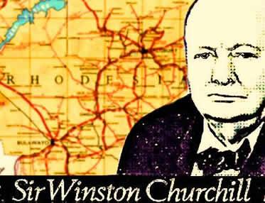 Um discurso de Churchill foi transformado em objeto de adoração na Rodésia do Nort