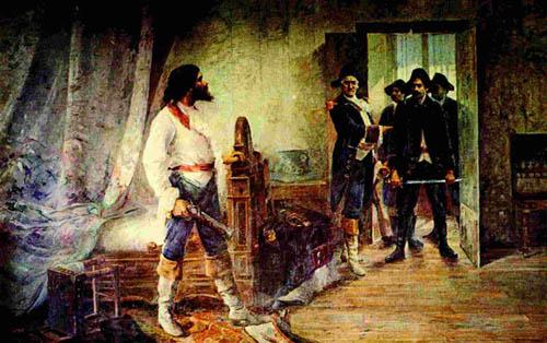 Tiradentes sendo preso no Rio de Janeiro*