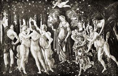 """O quadro """"A Primavera"""", de Botticelli, foi exaustivamente estudado por Warburg"""