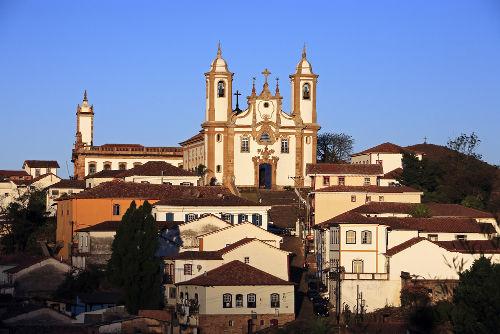 Cidade de Ouro Preto, antiga Vila Rica, onde transcorreu a trama da Inconfidência Mineira