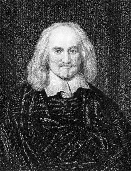 O inglês Thomas Hobbes foi um dos teóricos que defenderam o poder real