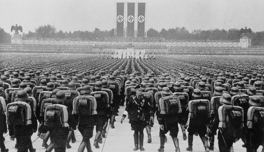 As Leis de Nuremberg foram apresentadas durante a Convenção do Partido Nazista, em 1935.*
