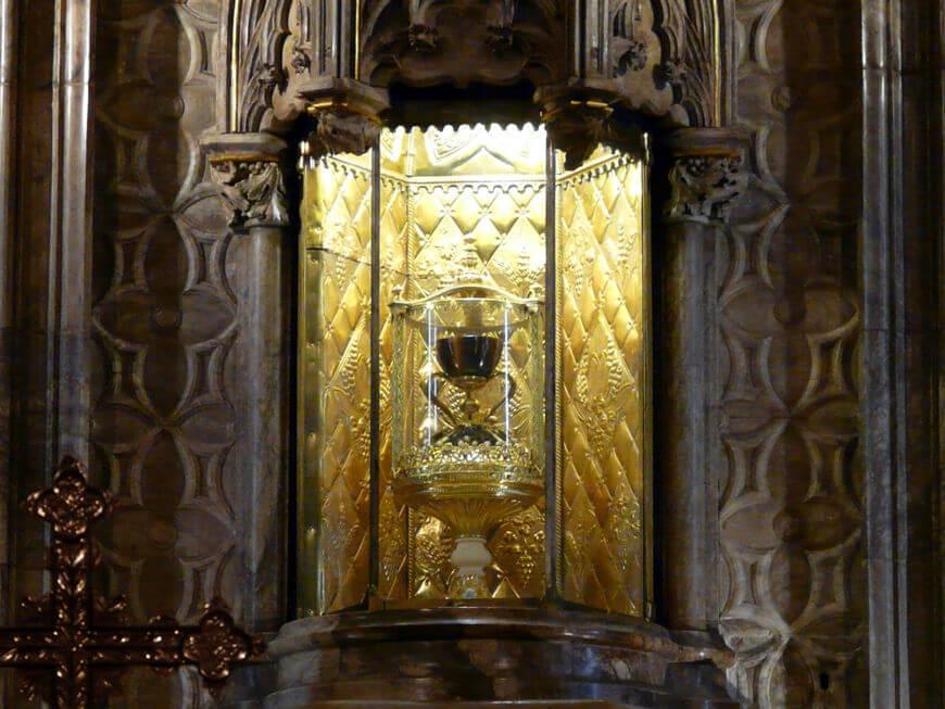 """Localização do """"Santo Graal"""" dentro da Catedral de Valência, na Espanha.*"""