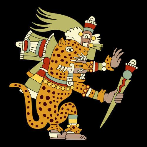 Representação moderna de Tezcatlipoca, um dos principais deuses do panteão asteca.