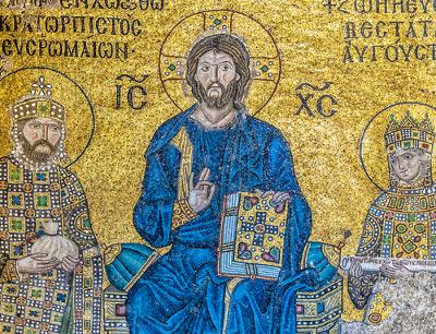 A arte bizantina teve o cristianismo primitivo como principal fonte temática *