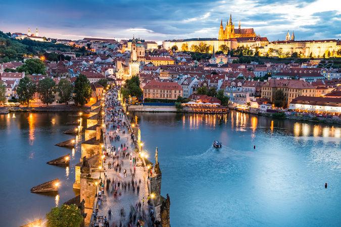 A cidade de Praga foi o grande palco dos eventos relacionados com a Primavera de Praga