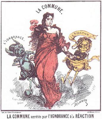 A Comuna segurada pela ignorância e pela reação, em sátira feita por Georges Pilotell