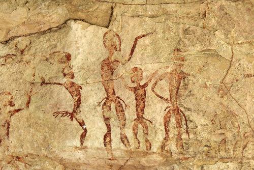 A pintura rupestre é uma das principais fontes de estudo sobre o homem pré-histórico